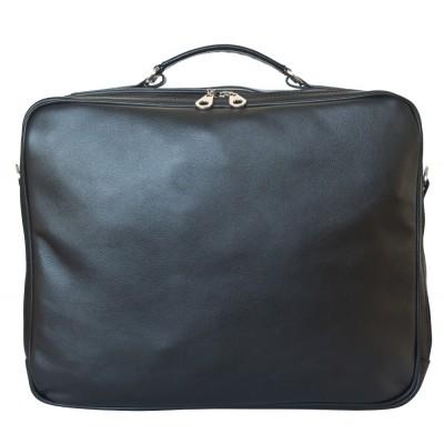 Кожаная мужская деловая сумка Palotto black (арт. 5032-01)
