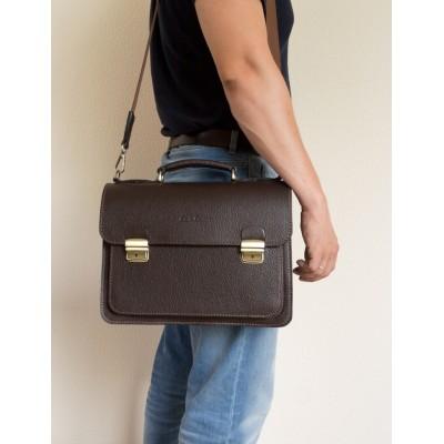 Кожаный портфель мужской Carlo Gattini Corfino brown (арт. 2008-04)