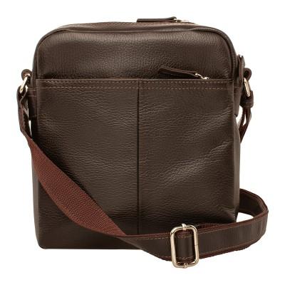 Кожаная мужская сумка через плечо Webbs Brown