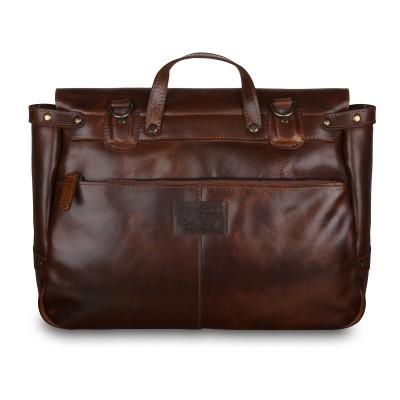 Мужской кожаный портфель Ashwood Leather Callum Copper Brown