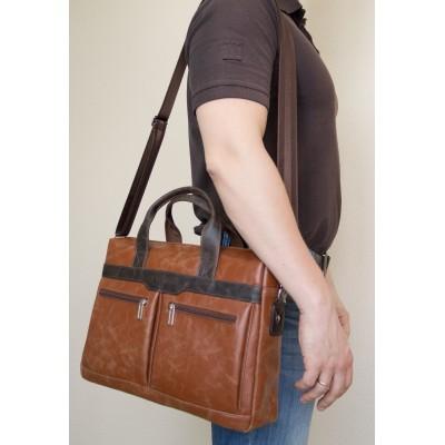 Мужская сумка Lugano cognac/brown (арт. 1007-03)