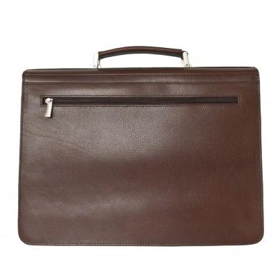 Кожаный портфель мужской Carlo Gattini Tolmezzo brown (арт. 2023-31)