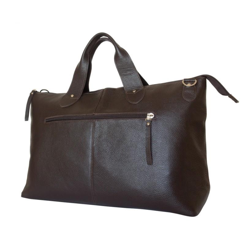 abed25e1beb2 Кожаная дорожная сумка Cassolo brown (арт. 4002-04) - купить в ...