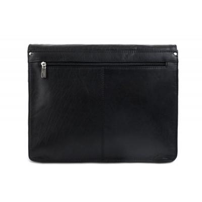 Кожаная сумка через плечо Visconti Carter ML23 Black