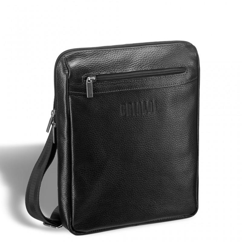 aec443676bbf Кожаная сумка через плечо BRIALDI Thoreau (Торо) relief black ...