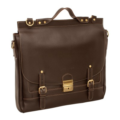 Кожаный портфель мужской Bamfield Brown