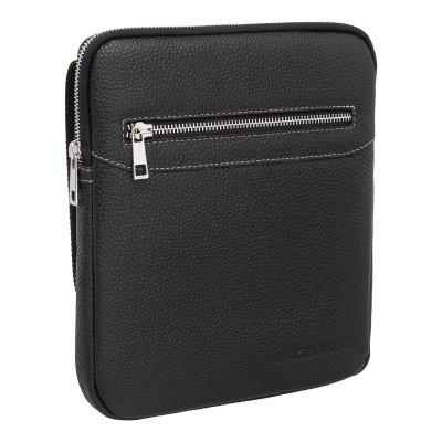 Кожаная мужская сумка через плечо Mowcroft Black
