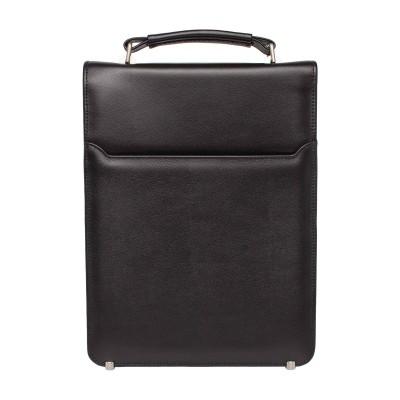 Мужской портфель из натуральной кожи Dormer Black