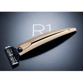 Bolin Webb R1 - Подарочный набор, бритва R1 золотая, подставка R1 черная