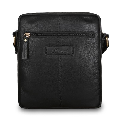 Кожаная мужская сумка через плечо Ashwood Leather M-56 Black