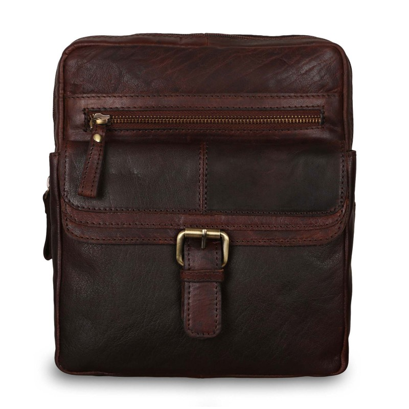 Мужская сумка через плечо Ashwood Leather G-33 Brandy