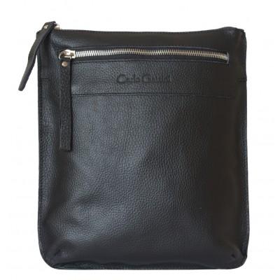 Кожаная мужская сумка через плечо  Saltara black (арт. 5021-01)