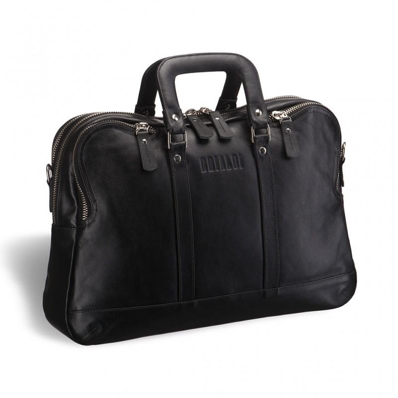 Деловая сумка в ретро-стиле BRIALDI Pasadena (Пасадена) black