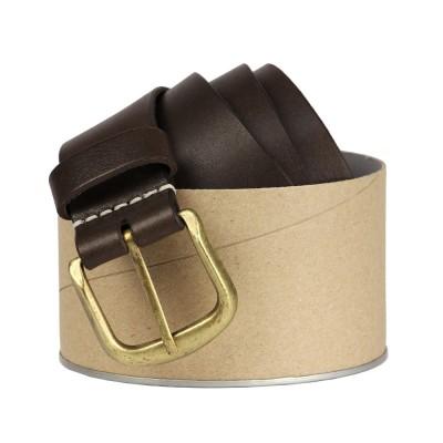 мужской ремень newport brown brass