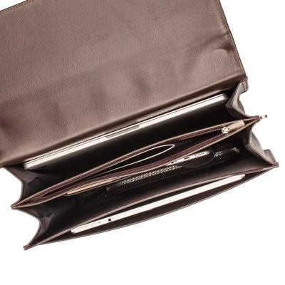 Кожаный портфель мужской Lakestone Braydon Brown