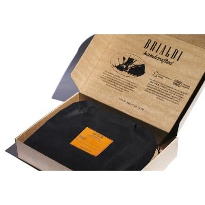 Мужской портфель из натуральной кожи BRIALDI Ameca (Амека) brown