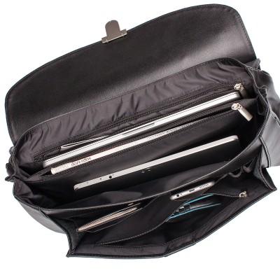 Мужской портфель из натуральной кожи Lakestone Hammond Black