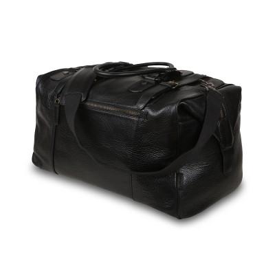 Дорожная сумка из кожи Ashwood Leather Theodore Black