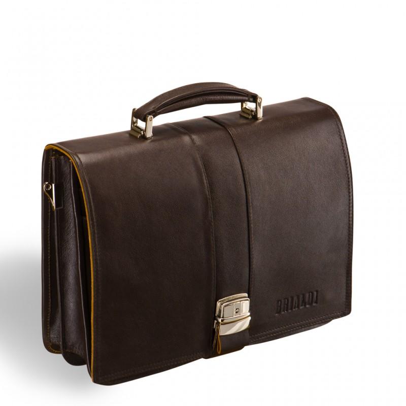 Мужской портфель из натуральной кожи BRIALDI Pavia (Павия) brown