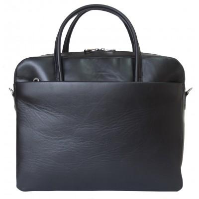 Кожаная мужская сумка Como black (арт. 5005-01)