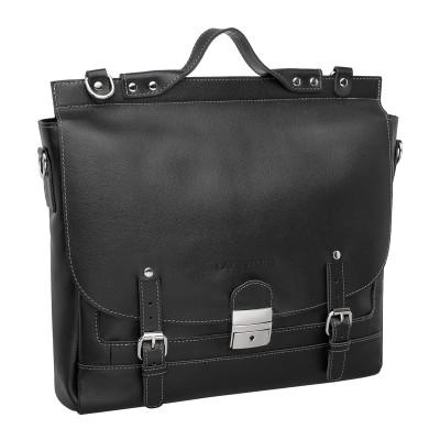 Кожаный портфель мужской Bamfield Black