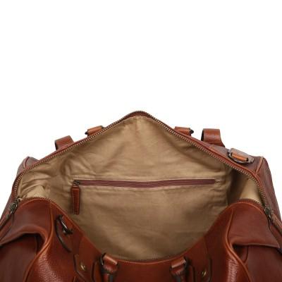 Дорожная сумка из кожи Ashwood Leather Theodore Chestnut