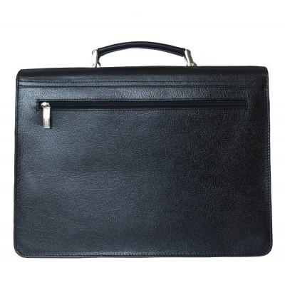 Мужской портфель из натуральной кожи Carlo Gattini Tolmezzo black (арт. 2023-30)
