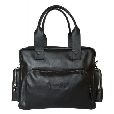Кожаная деловая сумка Carlo Gattini Rotelle black (арт. 1026-01)