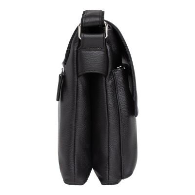 Кожаная мужская сумка через плечо Shellmor Black
