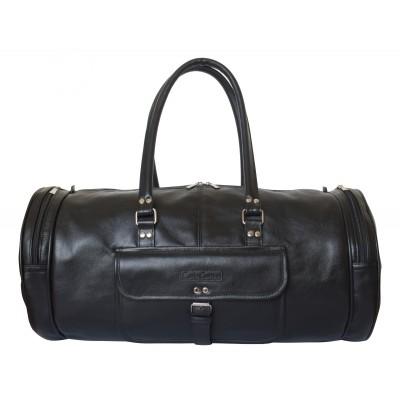Кожаная дорожная сумка Carlo Gattini Belforte black (арт. 4011-01)