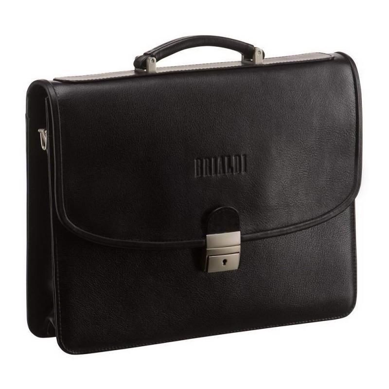 Мужской портфель из натуральной кожи BRIALDI Monopoli (Монополи) black