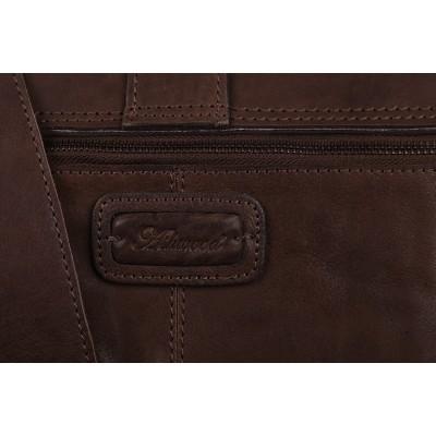 Кожаный портфель Ashwood Leather Doris Dark Taupe