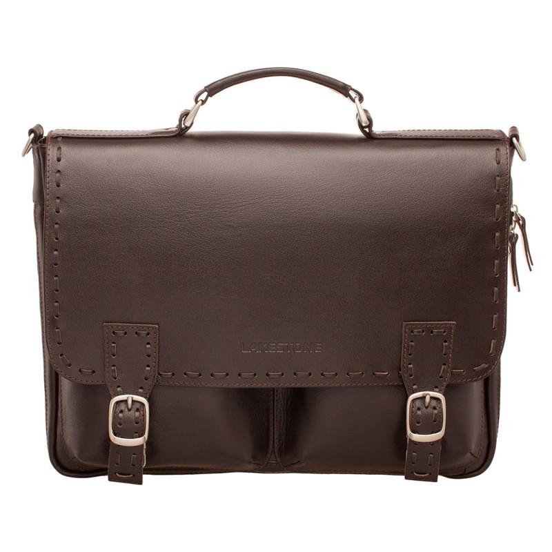 Кожаный портфель мужской Lakestone Cooper Brown