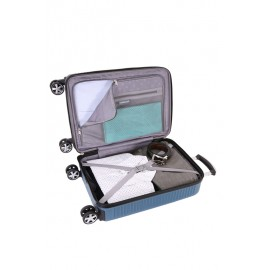 Чемодан WENGER VAUD, синий, с подставкой для кофе, АБС-пластик, 36 x 24 x 57 см, 38 л