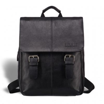 Практичный мужской рюкзак из кожи BRIALDI Broome (Брум) relief black