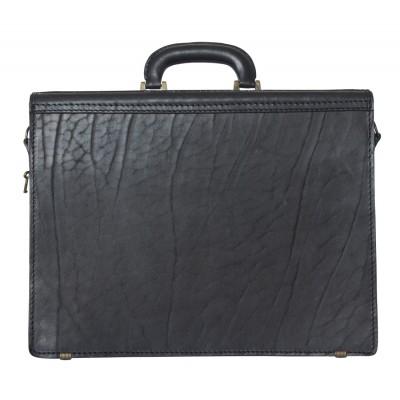 Мужской портфель из натуральной кожи Carlo Gattini Luriano black (арт. 2009-30)