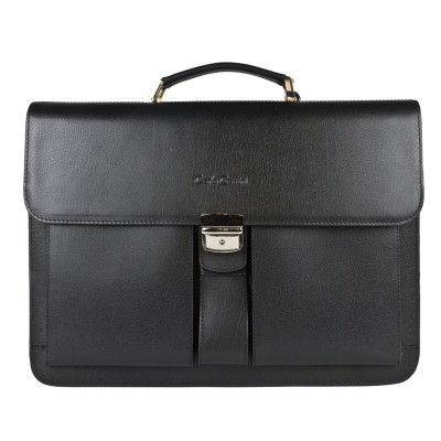 Мужской портфель из натуральной кожи Carlo Gattini Bulciano black (арт. 2026-30)