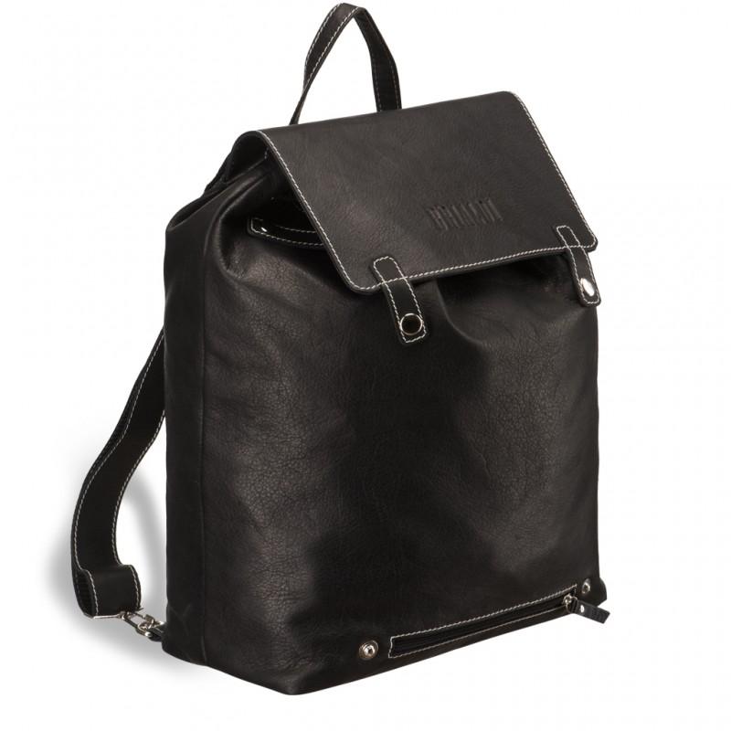 Кожаный рюкзак мужской BRIALDI Laredo (Ларедо) black
