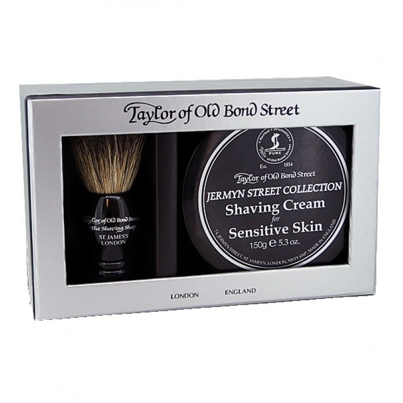 Taylor Of old Bond Street Jermyn Street Collection Cream & Bager Gift Box - Подарочный набор для бритья