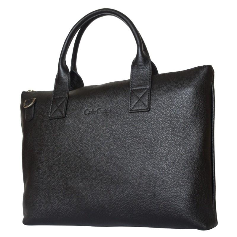 Кожаная сумка Anterivo black (арт. 5024-01)