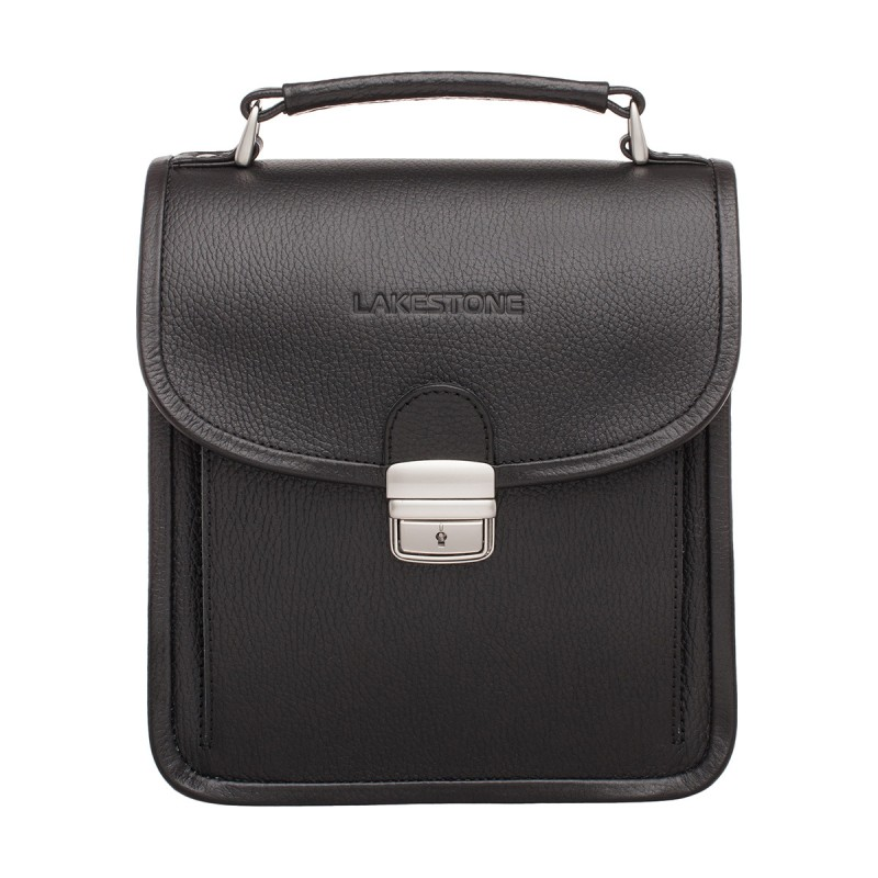 Мужской портфель из натуральной кожи Lakestone Bishop Black