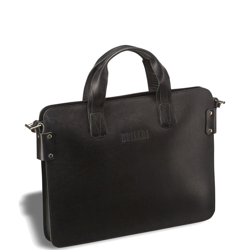 Деловая сумка SLIM-формата BRIALDI Loano (Лоано) black