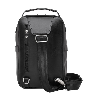 Кожаный рюкзак мужской Pill Black