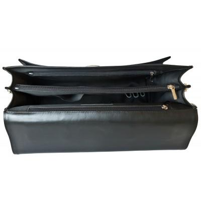 Мужской портфель из натуральной кожи Carlo Gattini Coredo black (арт. 2019-01)