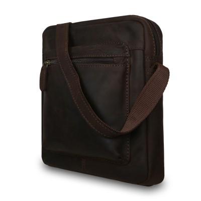 Кожаная мужская сумка через плечо Ashwood Leather  Patty Brown