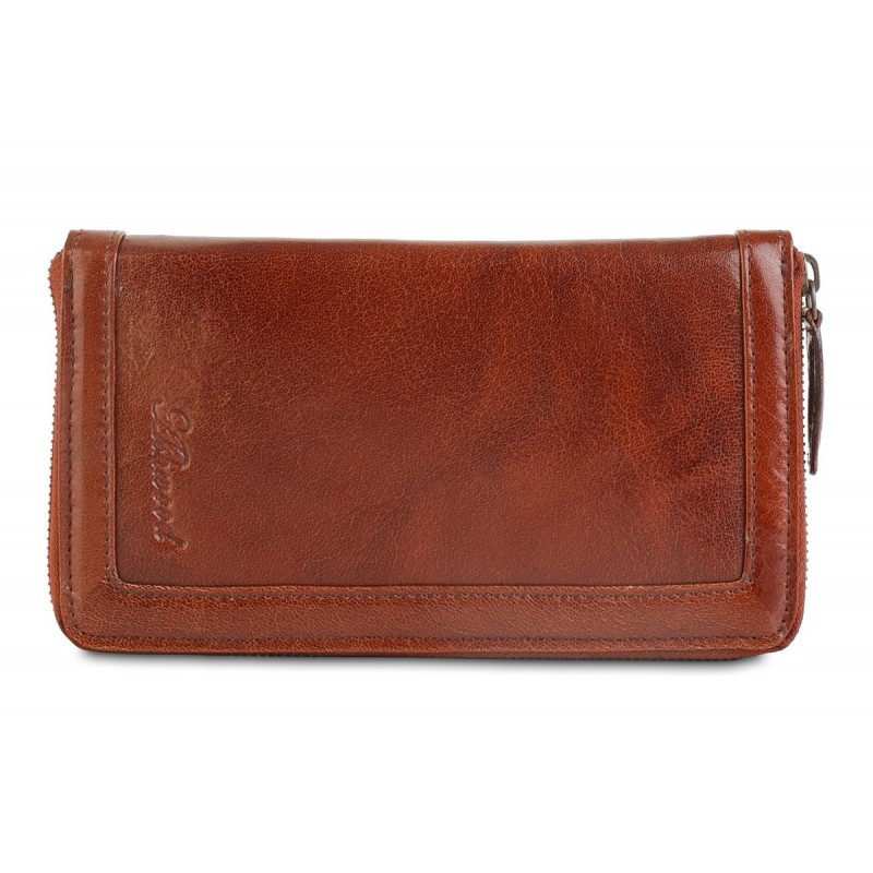 Мужской клатч Ashwood Leather  Travel Wallet Chestnut Brown