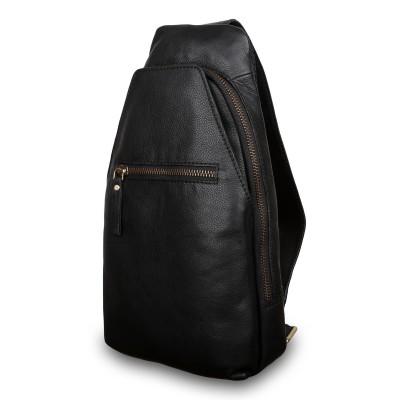 Мужской рюкзак из натуральной кожи Ashwood Leather M-53 Black