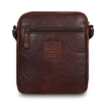 Кожаная мужская сумка через плечо Ashwood Leather  F-82 Brown