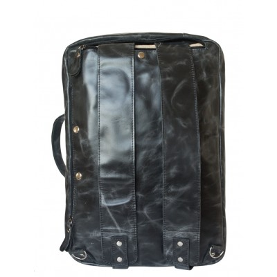 Кожаная сумка-рюкзак Carlo Gattini Ferrone black (арт. 3063-05)