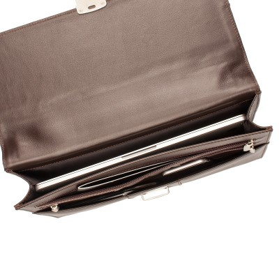 Папка-портфель из натуральной кожи Lakestone Thomas Brown
